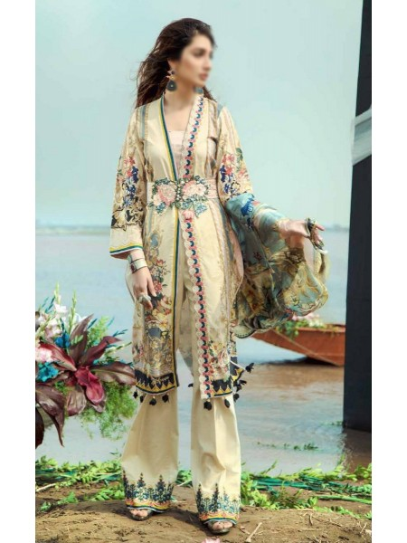 Firdous Grandeur Luxury Un-Stiched Lawn 2020 D-LL - 19545