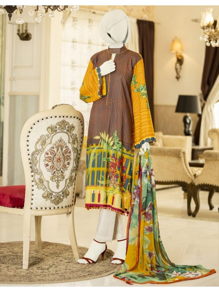 Junaid Jamshed Summer Collection Vol2 JLAWN-S-JDS-20-1035-B Sea Washes