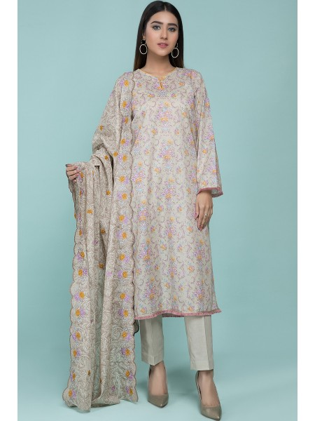 Kayseria Classic Summer Collection Printed & Embroidered 3 Pcs Suit C 3565