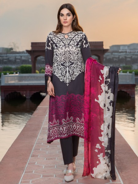 LimeLight Unstitched Summer Collection 2-Pc Silk Suit U0854-2PC-GRY