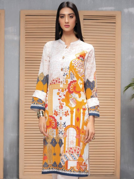 LimeLight Unstitched Summer Collection Lawn Shirt U1088SH-SSH-YLW