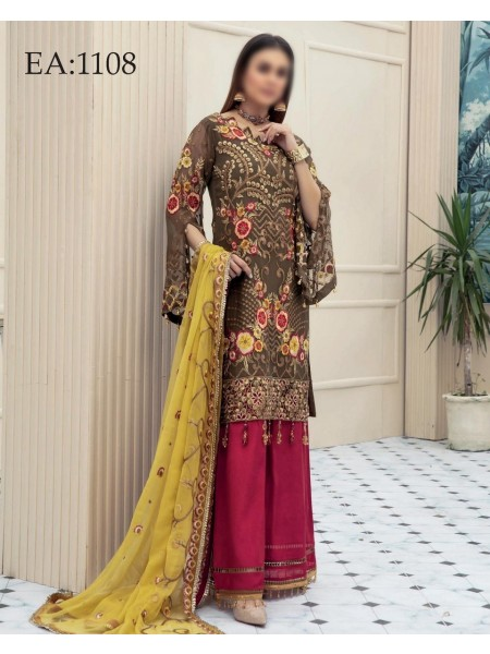 MISCELLANEOUS Emaan Adeel Luxury Unstiched Chiffon Collection Vol-11 D-1108