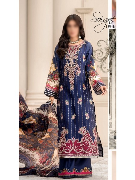 NOOR BY SADIA ASAD LUXURY UNSTITCHED LAWN 2020 D-09B