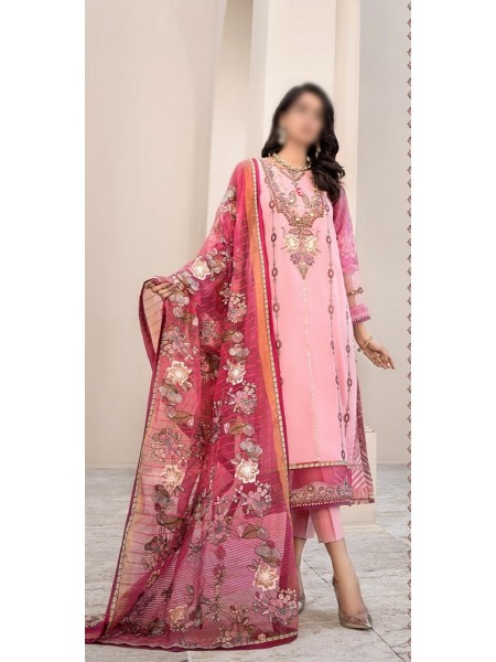 NOOR BY SADIA ASAD LUXURY UNSTITCHED LAWN 2020 D-11A