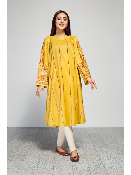 Origins DAFFODIL-Embroidred Frock- 20S02