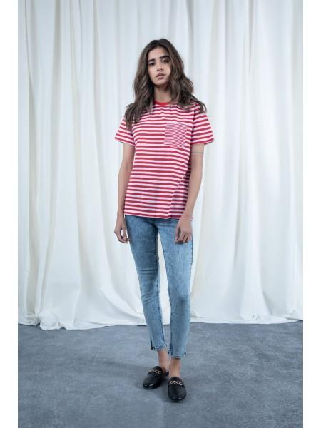 Sapphire Western Wear Red Pocket T-Shirt WESTTOP00375-SML-999