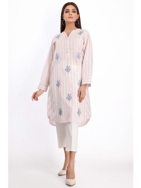 Zeen Woman Ready to Wear WA101013-White-Stripe