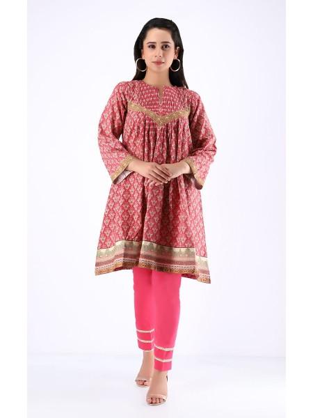 Zellbury Fabric By Meter Mexican Red - 1 piece - Khaddar shirt ZWROT19122