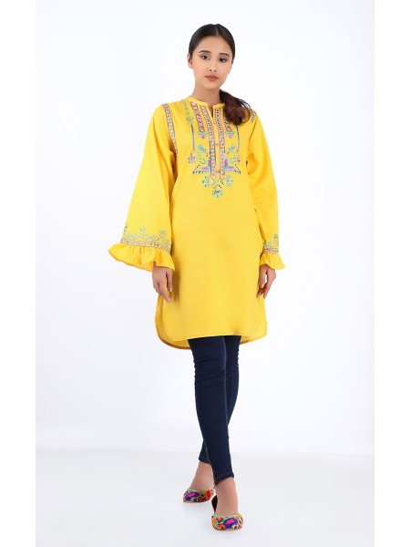 Zellbury Pret Kurta - Paris Yellow - Jacquard ZWP1PE2151-Yellow