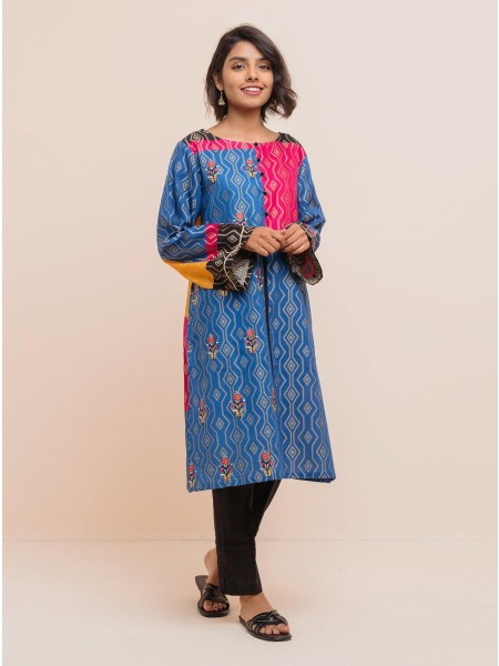 BeehTree Summer Pret Embroidered Shirt BTS20-DP-830-R-Blue
