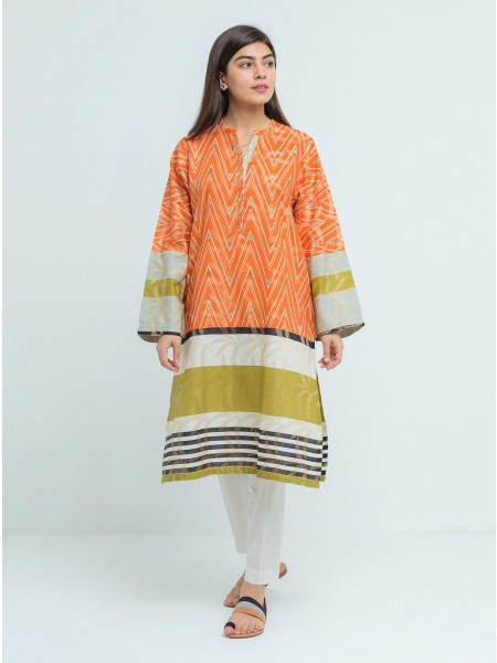 BeehTree Summer Pret Printed Shirt BTS20-DP-837-Orange