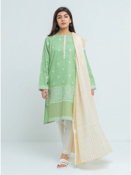 BeehTree Summer Pret Printed Shirt With Dupatta BTS20-D-72-Green