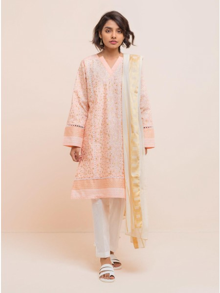 BeehTree Summer Pret Printed Shirt With Dupatta BTS20-D-73-Pink
