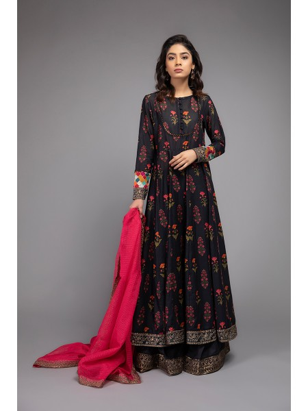 MariaB Eid Collection Suit Charcoal Grey DW-EF20-10