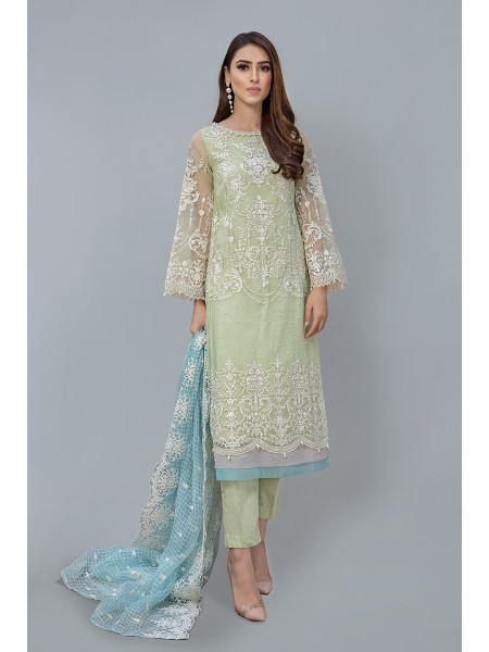 MariaB Eid Collection Suit Lime Yellow SF-EF20-12