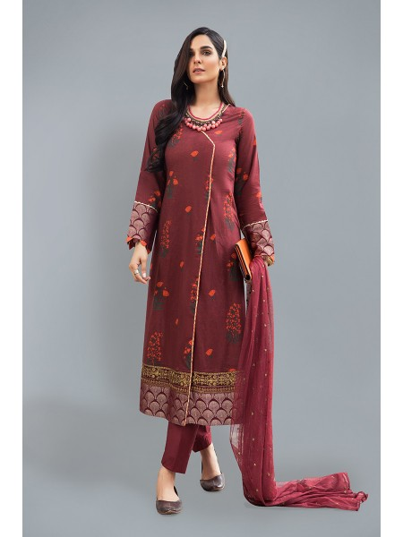 MariaB Eid Collection Suit Maroon DW-EF20-20
