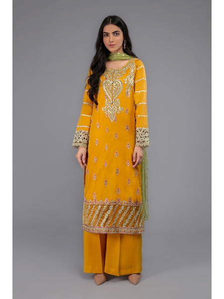 MariaB Eid Collection Suit Mustard DW-EF20-02