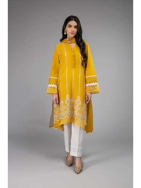 MariaB Eid Collection Suit Mustard DW-EF20-19