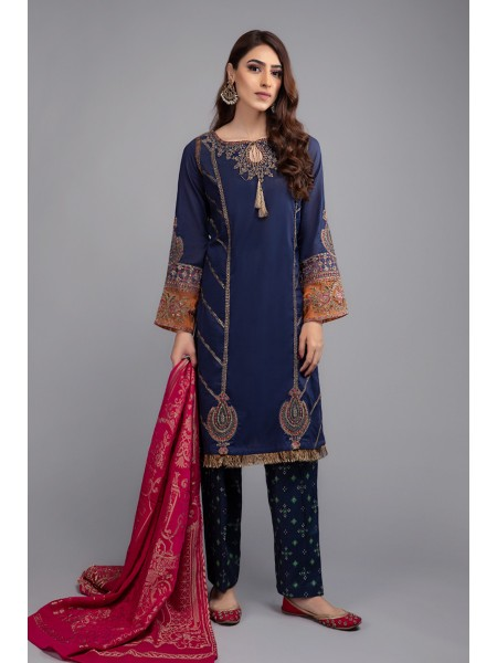 MariaB Eid Collection Suit Navy Blue DW-EF20-28