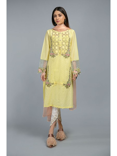 MariaB Eid Collection Suit Yellow DW-SS20-22