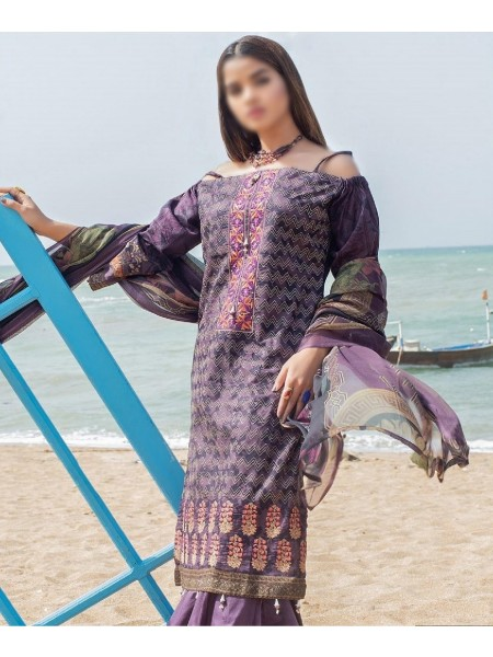 SOGHAT Posh Lawn Embroidered Unstiched Collection Vol-3 D-01