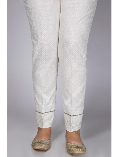 Zeen Woman Festive Edition Embellished Cigarette Pants WWC2205-White