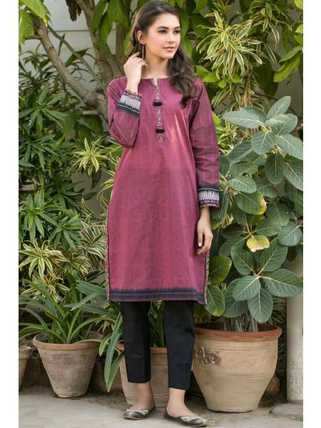 Zeen Woman Festive Edition Stitched 1 Piece Digital Printed Lawn Shirt WLM10117-Pomegranate