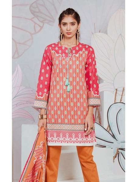 Zellbury Eid 20 Shirt Dupatta - Melon Pink - Lawn Suit ZWUSC220086