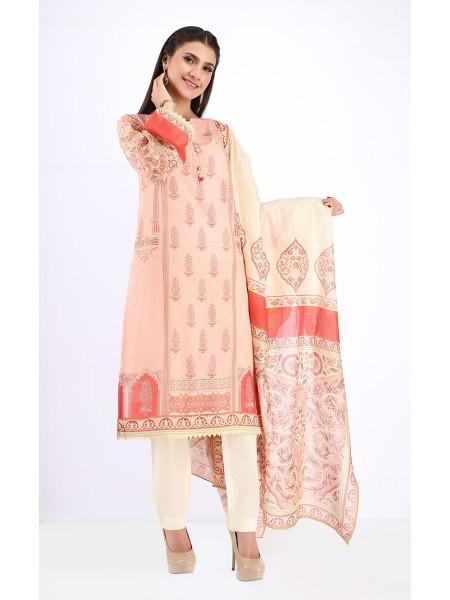 Zellbury Eid 20 Shirt Dupatta - Wax Flower - Lawn Suit ZWUSC220087