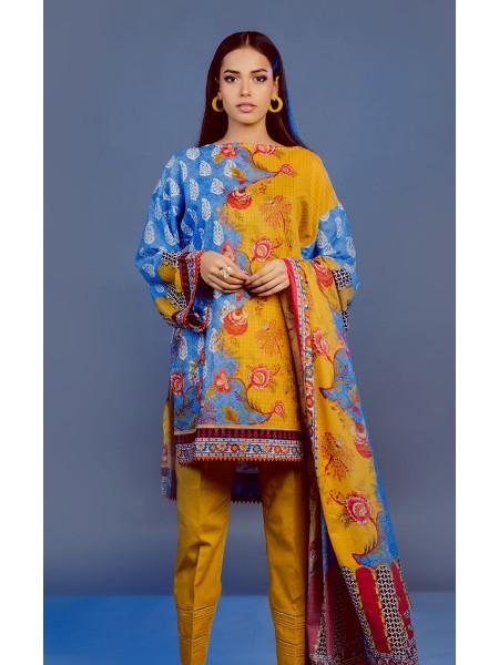 Zellbury Eid 20 Shirt Dupatta - Zircon Yellow - Lawn Suit ZWUSC220199