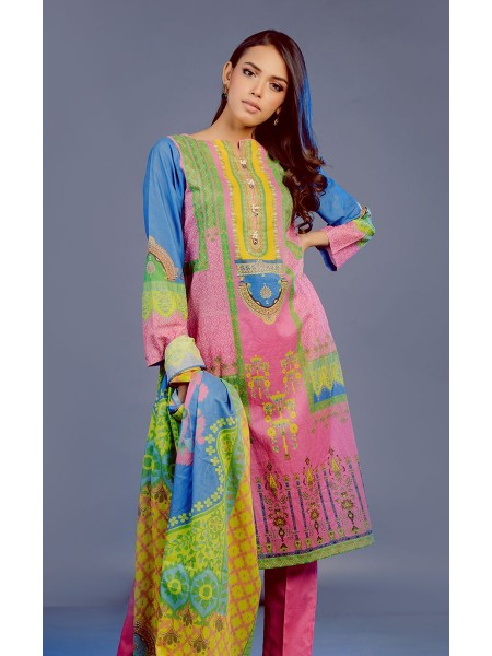 Zellbury Eid 20 Shirt Shalwar Dupatta - Blush Pink - Lawn Suit ZWUSC320216