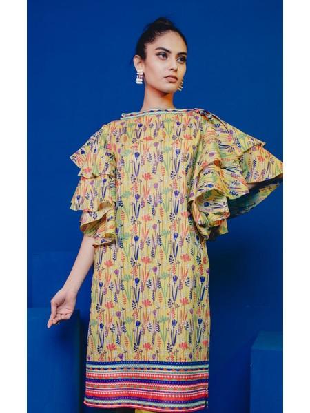 Zellbury Eid 20 Vis Vis Yellow - 1 Piece - Lawn Shirt ZWROT20041