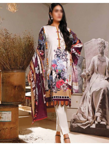FIRDOUS Urbane Unstiched Digital lawn Prints VOL-01 D-ULD-19245 A