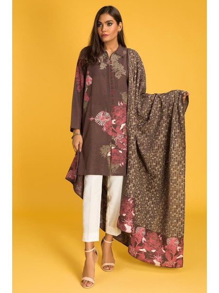 Gul Ahmed Ready To Wear Khaddar 2 PC Outfit IPW-19-07