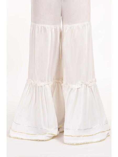 Gul Ahmed Ready To Wear White Trouser TR-19-54