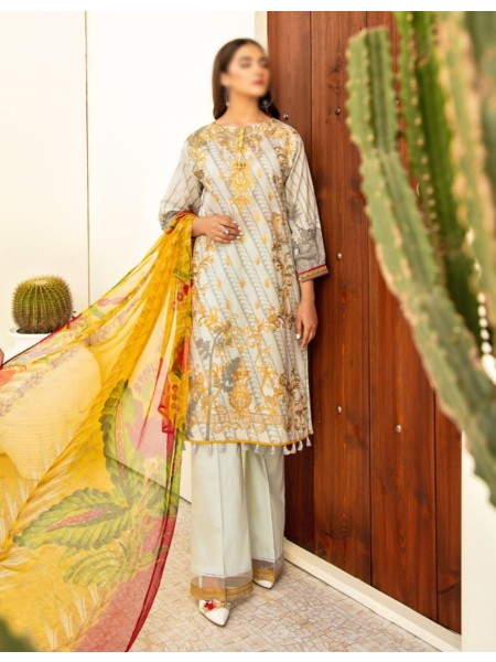IZNIK Embroidered Lawn Unstitched 3 Piece Suit IZ20C 04 Oasis