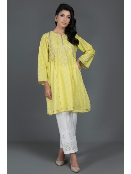 Kayseria Pret Summer Embroidered FLAIR SHIRT KWS20-W1277