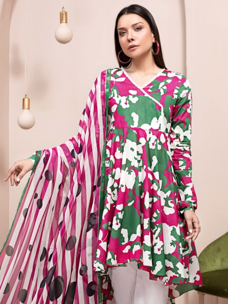 LimeLight Unstitched Summer Vol2 2-Pc Lawn Suit U1184SU-2PC-MGT