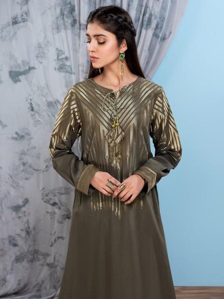 LimeLight Unstitched Summer Vol2 Jacquard Shirt U1059-SSH-OGN