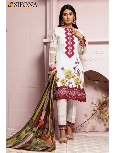 Sifona Allure Embroidered Lawn ACC-05 Whimsical Fate