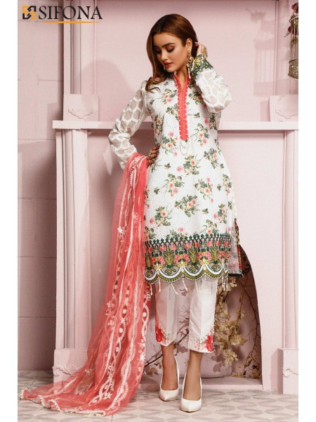 Sifona Allure Embroidered Lawn ACC-07 Esoteric Wayward: