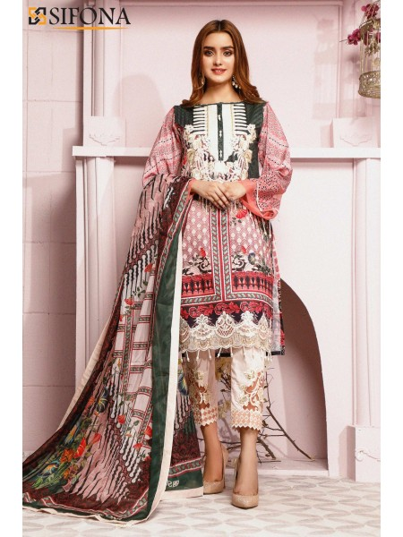 Sifona Allure Embroidered Lawn ACC-09 Mercurial