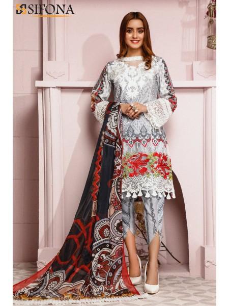 Sifona Allure Embroidered Lawn ACC-11 Juleb Cloud: