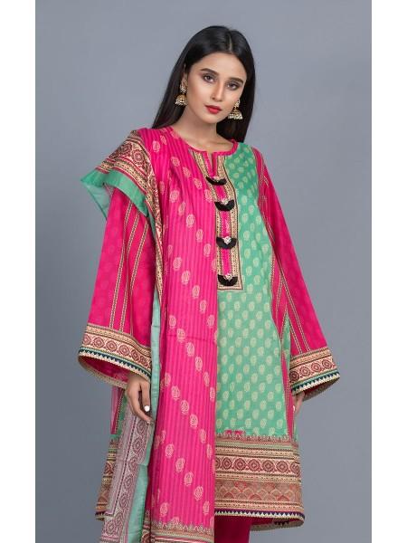 Zellbury Unstitched Lawn Shirt Dupatta - Rose Pink - Lawn Suit ZWUMS220247