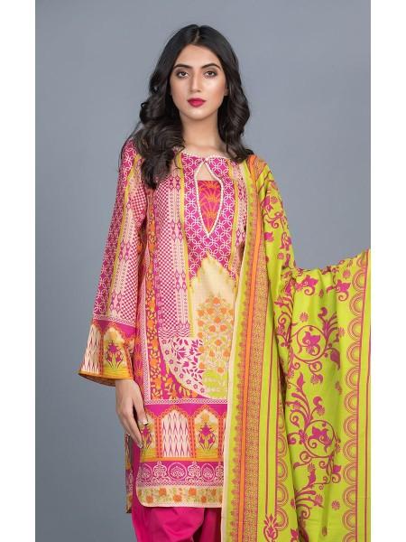 Zellbury Unstitched Lawn Shirt Shalwar Dupatta - Razzle Dazzle Purple - Lawn Suit ZWUMS320268