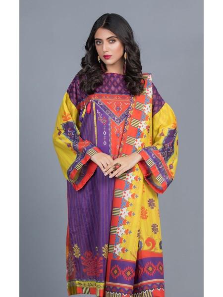 Zellbury Unstitched Lawn Shirt Shalwar Dupatta - Studio Purple - Lawn Suit ZWUMS320252
