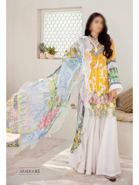 AZALEA Unstiched Lawn Embroidered Spring Summer20 D-05