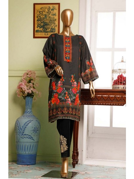 BIN SAEED Lawn Stitched Kurti Collection D-09