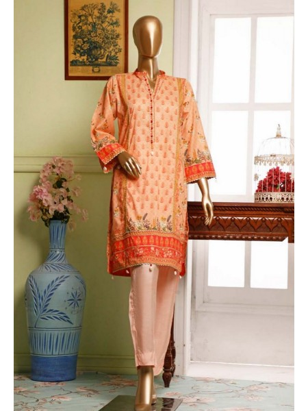 BIN SAEED Lawn Stitched Kurti Collection D-10