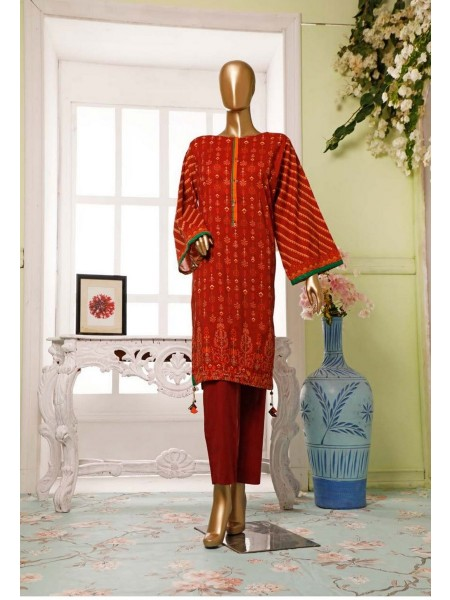 BIN SAEED Lawn Stitched Kurti Collection D-14
